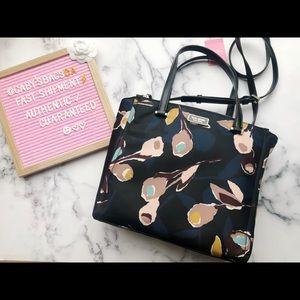 Kate Spade Nylon Medium Satchel Dawn Floral/Black